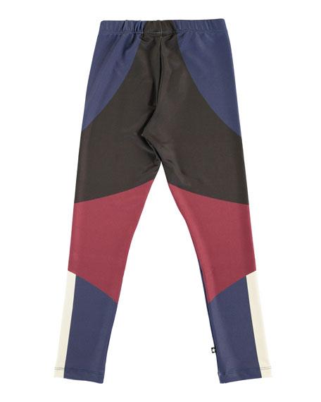 Nikia Sporty Colorblock Leggings, Size 4-14