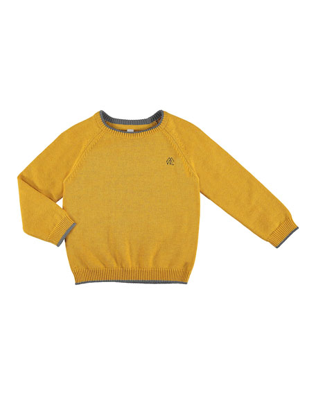 MAYORAL Long-Sleeve Crewneck Sweater, Size 3-7