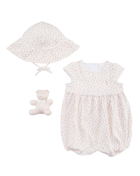Floral-Print Interlock Layette Set, Size 3-12 Months