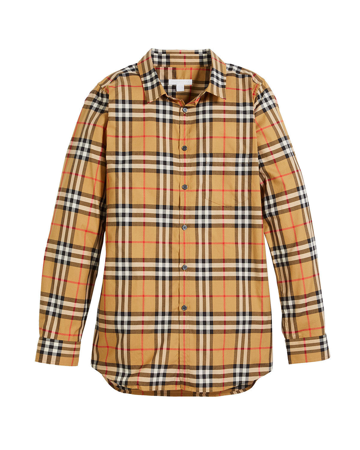 d904e304 Burberry Fred Long-Sleeve Check Shirt, Size 4-14 | Neiman Marcus