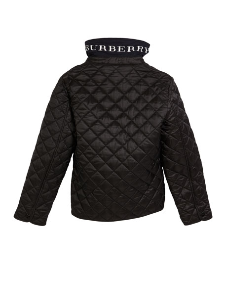 Burberry Lyle Quilted Snap Jacket, Size 4-14