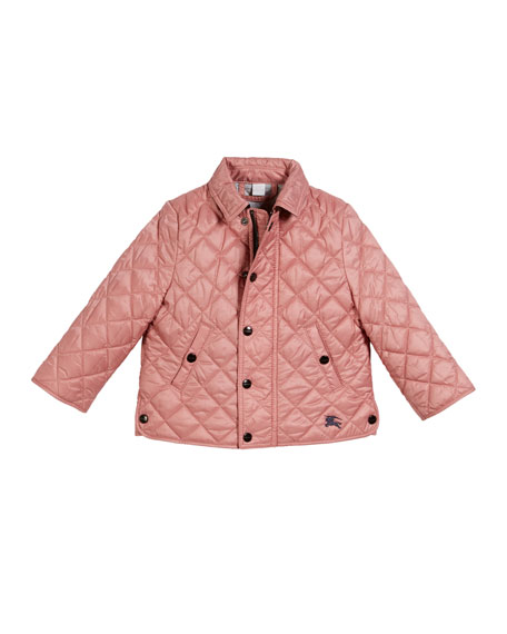 Burberry Lyle Quilted Snap Jacket, Size 6M-3