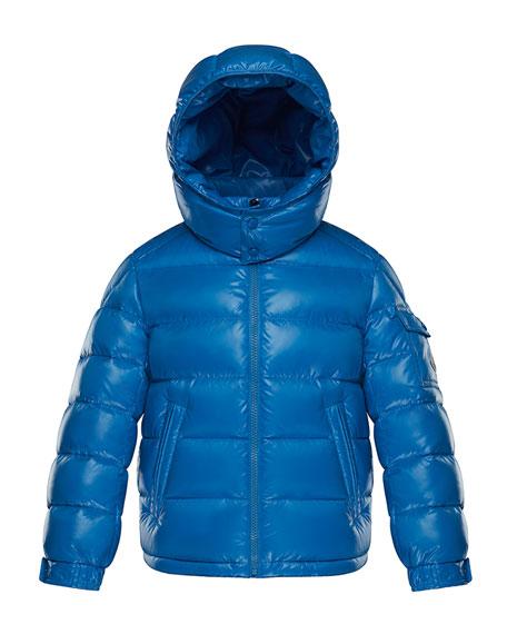 Moncler New Maya Puffer Jacket w/ Hood, Size 8-14