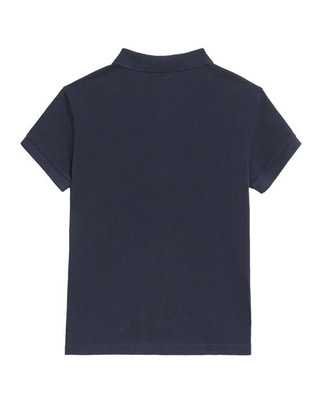 Burberry Grant Knit Pique Short-Sleeve Polo, Size 3-14