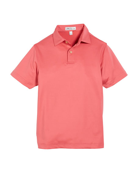 Peter Millar Solid Stretch Jersey Polo Shirt, Size