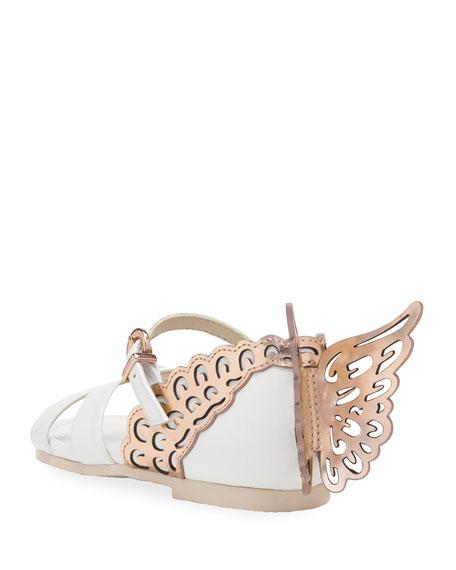 Sophia Webster Evangeline Metallic Butterfly-Wing Leather Sandals, Toddler/Kids