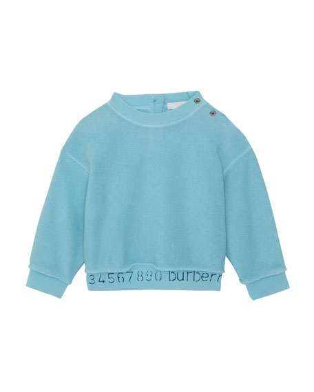 Burberry Damien Logo & Numbers Long-Sleeve Knit Top, Size 6M-2