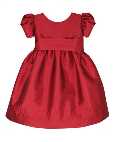 Timeless Taffeta Puffy-Sleeve Dress  Size 12-24 Months