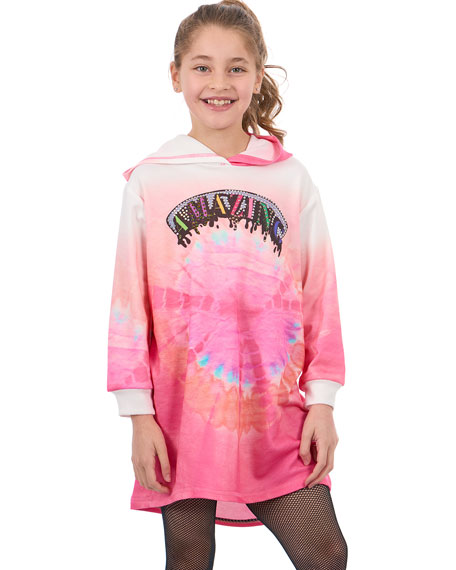 Hannah Banana Amazing Tie Dye Sweatshirt Dress, Size 4-6