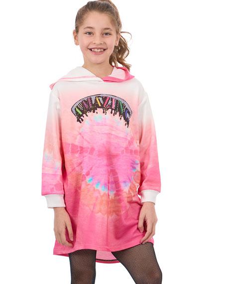 Hannah Banana Amazing Tie Dye Sweatshirt Dress, Size 7-14