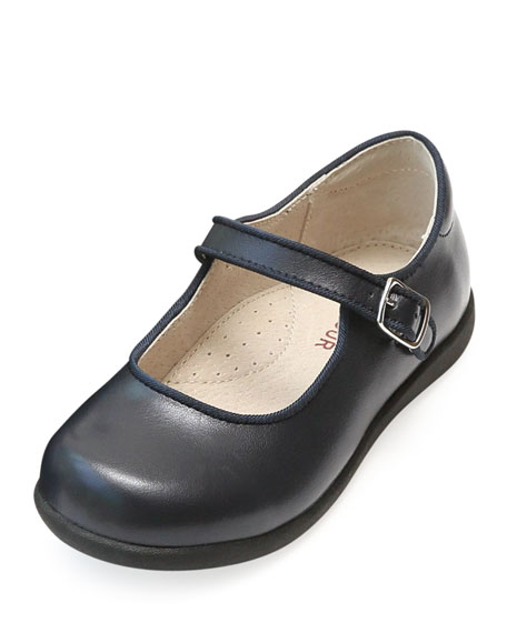 L'Amour Shoes Lauren Leather Buckled Mary Jane, Size Baby/Toddler/Kids