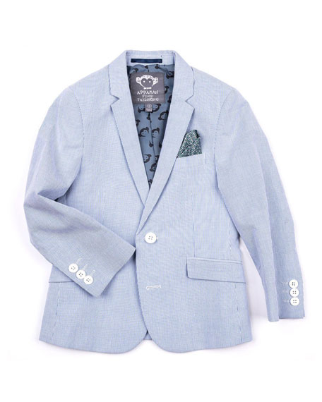 Appaman Striped Cotton Blazer Jacket, Size 2-14