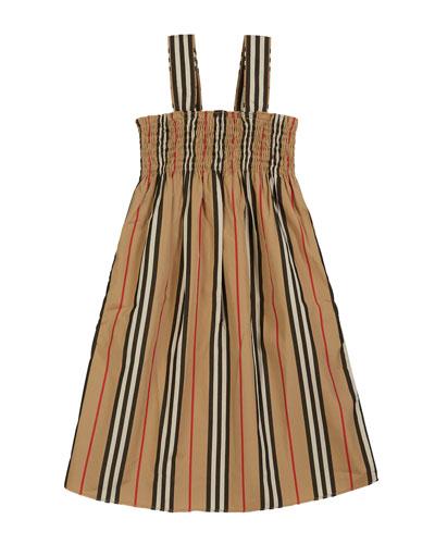Junia Icon Stripe Smocked Sun Dress  Size 3-14