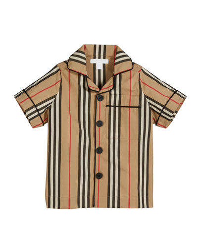 Andres Icon Stripe Short-Sleeve Top  Size 3-14