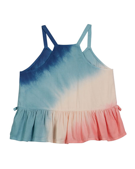 Splendid Voile Tie Dye Tank Top, Size 7-14