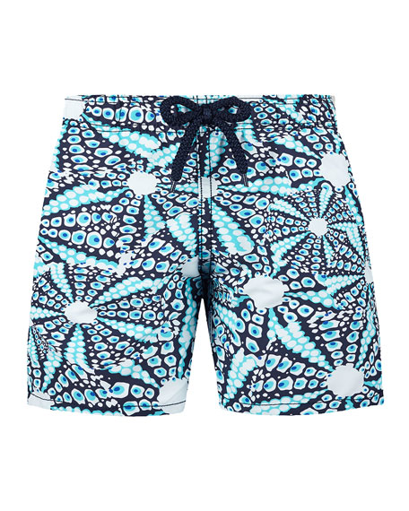 Vilebrequin Jim Printed Swim Trunks, Size 2-14