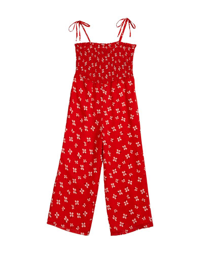 Ali Floral Smocked Jumpsuit  Size 8-16