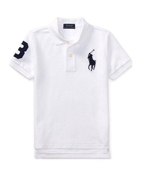 Ralph Lauren Childrenswear Big Pony Pique Knit Polo, Size 2-3