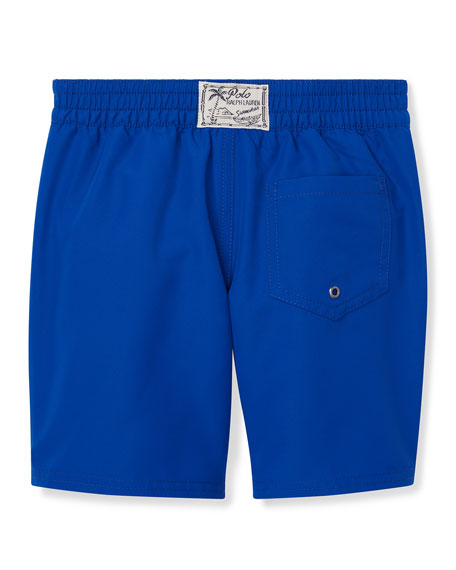 Ralph Lauren Childrenswear Sanibel Logo Embroidery Swim Trunks, Size 2-4