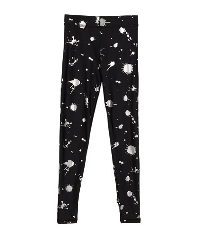 Paint Splatter Foil Print Leggings  Size 7-16