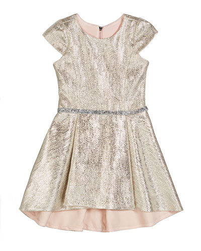 Sabine Metallic High-Low Dress  Size 7-16