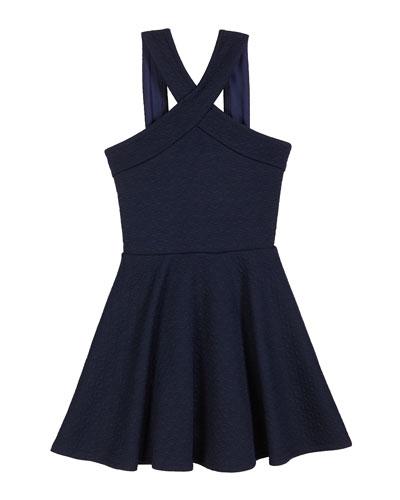 The Tracie Knit Jacquard Halter Dress  Size S-XL