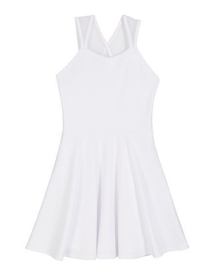 Sally Miller Textured Knit Mesh Inset Dress, Size S-XL
