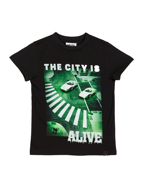 Molo Raymont The City Is Alive Tee, Size 4-12