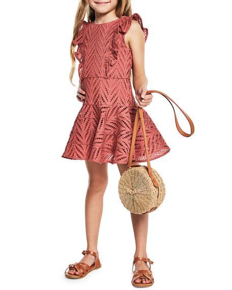 Bardot Junior Sadie Ruffle-Trim Eyelet Dress, Size 8-16