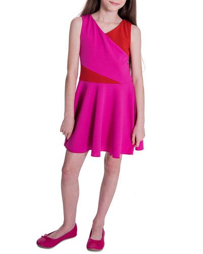 Girl's Kiera Knit Colorblock Swing Dress  Size 7-16