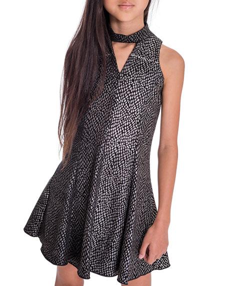Zoe Girl's Zoey Sparkle Knit Cutout Dress, Size 7-16