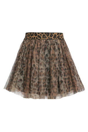 Hannah Banana Animal-Print Tutu Skirt, Size 7-14