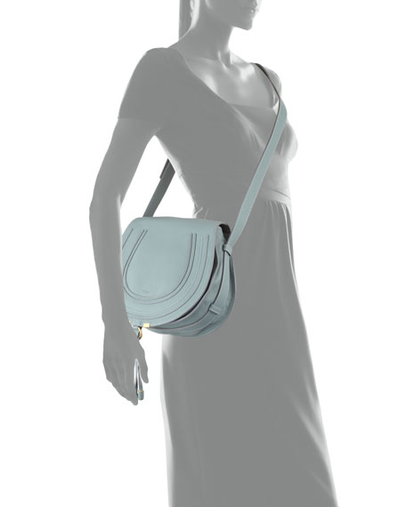 Marcie Horseshoe Crossbody Bag, Seawater Blue
