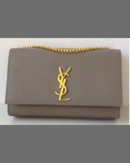 Yves Saint LaurentMonogram Medium Chain Shoulder Bag, Black