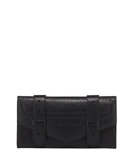 PS1 Continental Lambskin Wallet, Black