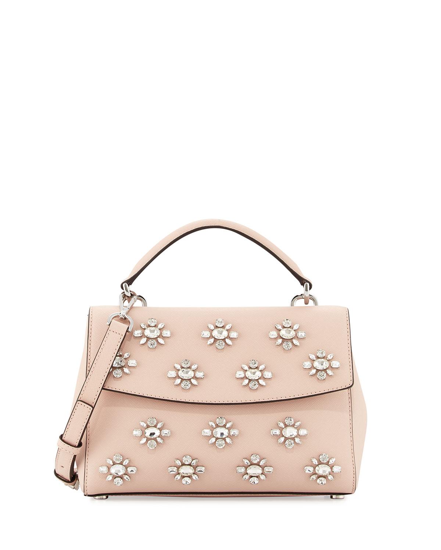 f67ca79e2e6c MICHAEL Michael Kors Ava Small Jeweled Satchel Bag | Neiman Marcus