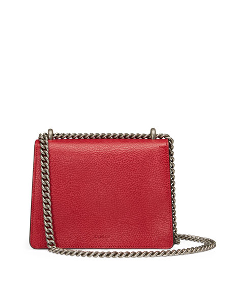 Dionysus Leather Shoulder Bag, Red