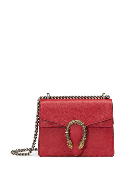 Gucci Dionysus Leather Shoulder Bag, Red