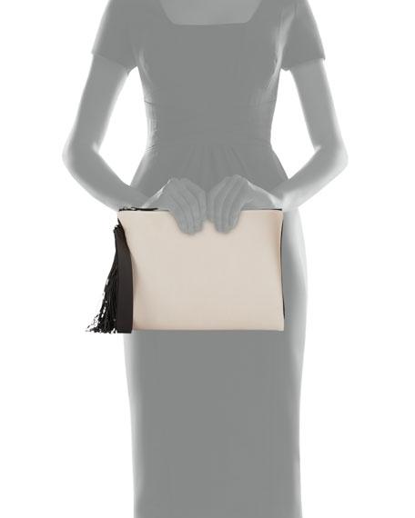 Monili-Tassel Wristlet Pouch Bag