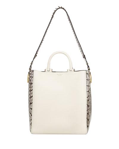 24d168005682 Salvatore Ferragamo Paola Large Calfskin   Elaphe Tote Bag