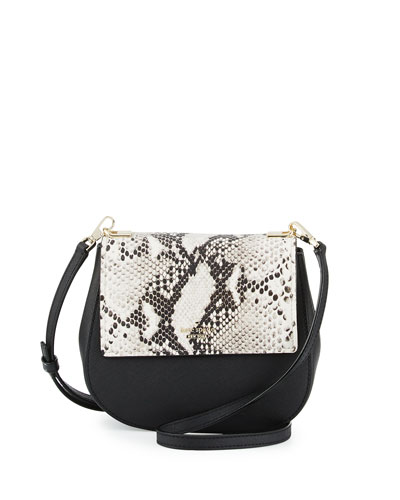 cameron street byrdie snake crossbody bag, black