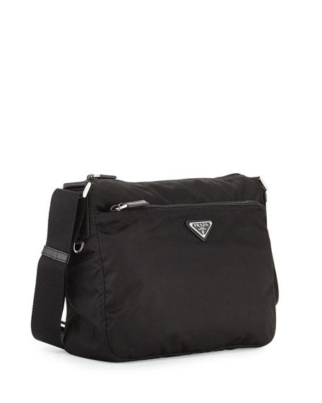 a2f1d93bfa99 Prada Large Nylon Crossbody Bag, Black (Nero)   Neiman Marcus