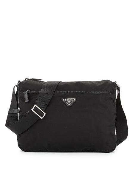 ff03ed400d2f93 Prada Large Nylon Crossbody Bag, Black (Nero) | Neiman Marcus