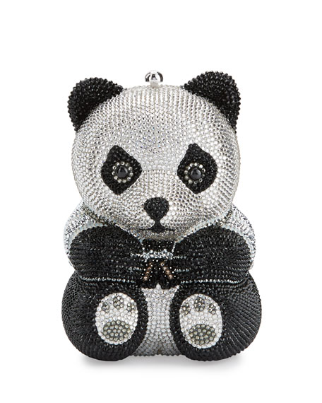 Judith Leiber Couture Ling Panda Evening Clutch Bag,