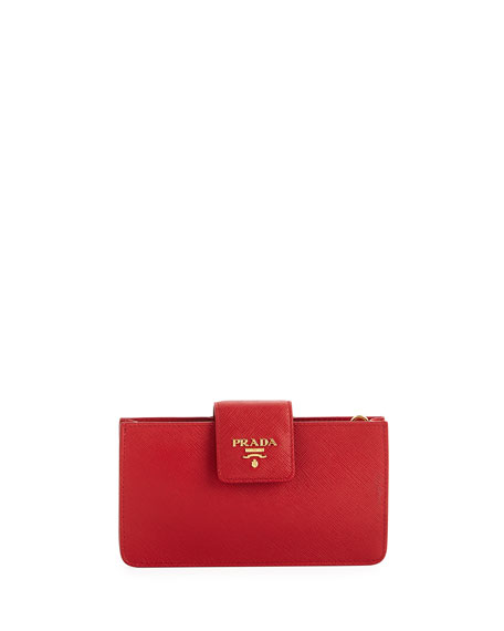Prada Saffiano Phone Crossbody Bag