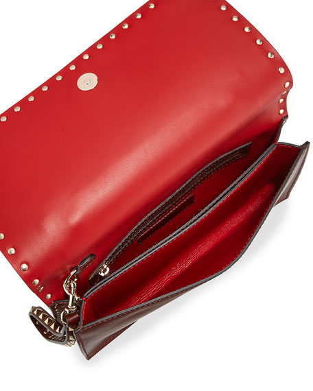 Rockstud Medium Flap Wristlet Clutch Bag