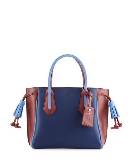 Longchamp Penelope Tricolor Small Handbag, Blue/Multi