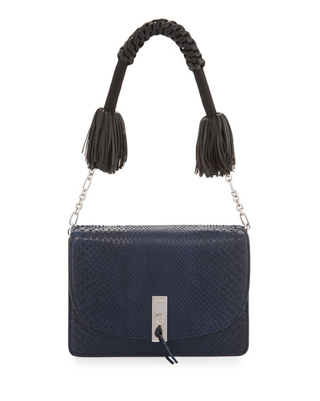 Altuzarra Ghianda Python Shoulder Bag, Navy