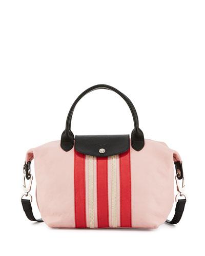 Longchamp Le Pliage Cuir Striped Handbag with Strap eaa3b5a9ab58a