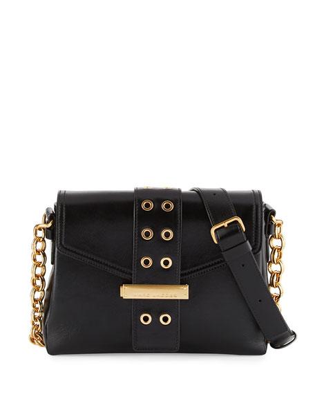 Marc Jacobs Lock & Strap Leather Shoulder Bag